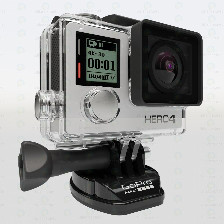 modelo 3D GoPro HERO 4 - escuchar