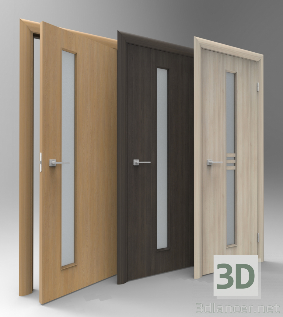 3d model doors, fbx, skp, Minimalism- Free Download