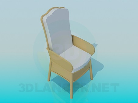 3d modeling Chair a soft seat model free download