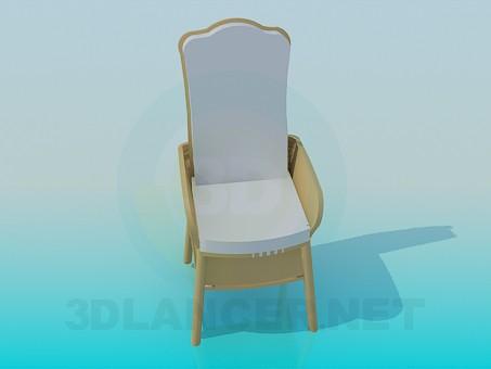 3d модель Стул с мягкой сидушкой – превью