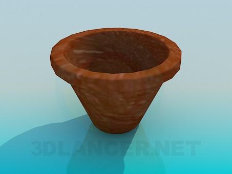 3d модель Горшок под вазон – превью