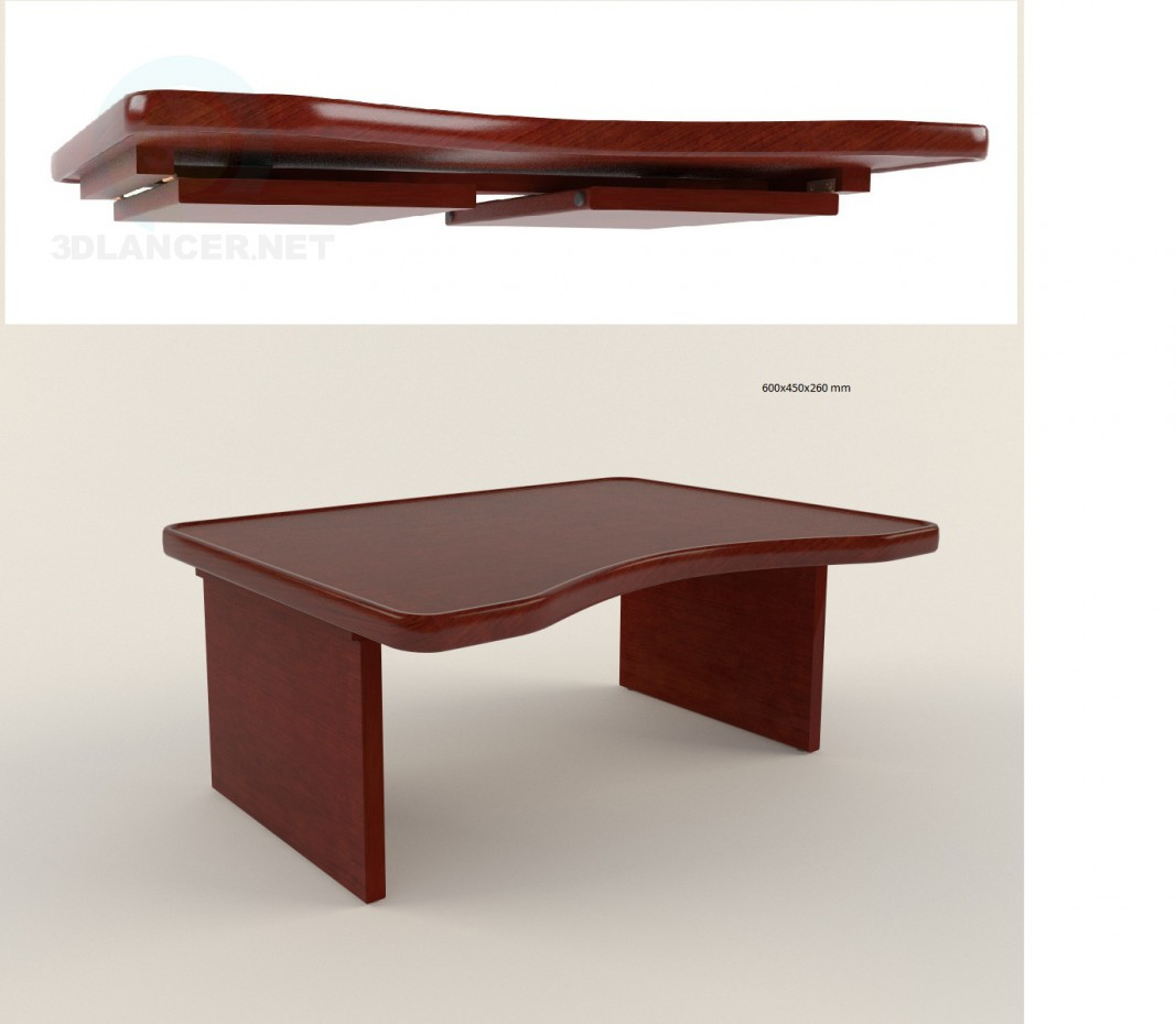 3d model Laptop table - preview