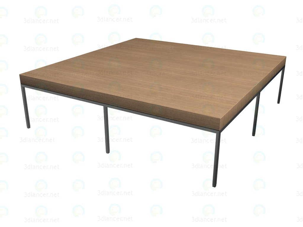3d model low table 9614 b b italia collection ebe apta - B b italia link table ...
