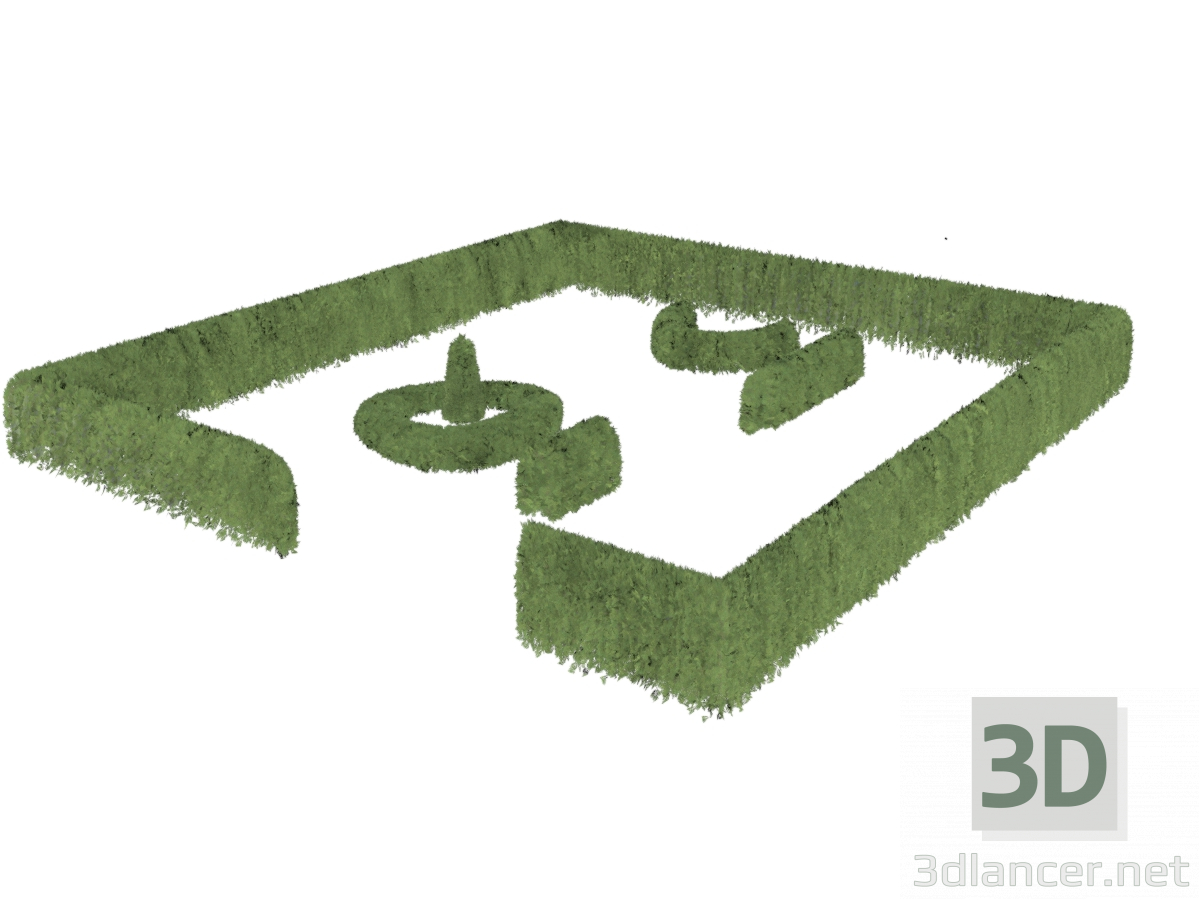 3d Living fences of Tuy, for quick landscaping model buy - render