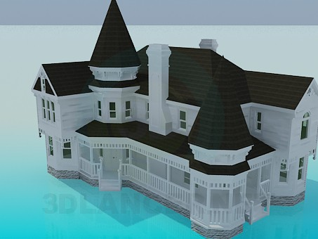 descarga gratuita de 3D modelado modelo Casa de campo