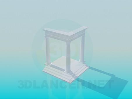3d модель Крыльцо с колоннами – превью