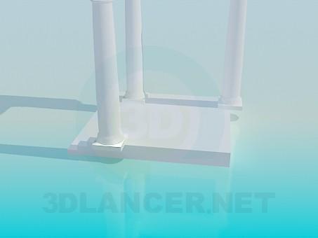 3d модель Ганок з колонами – превью