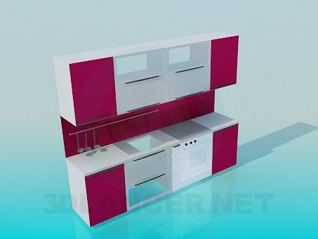 3d модель Маленькая кухня – превью