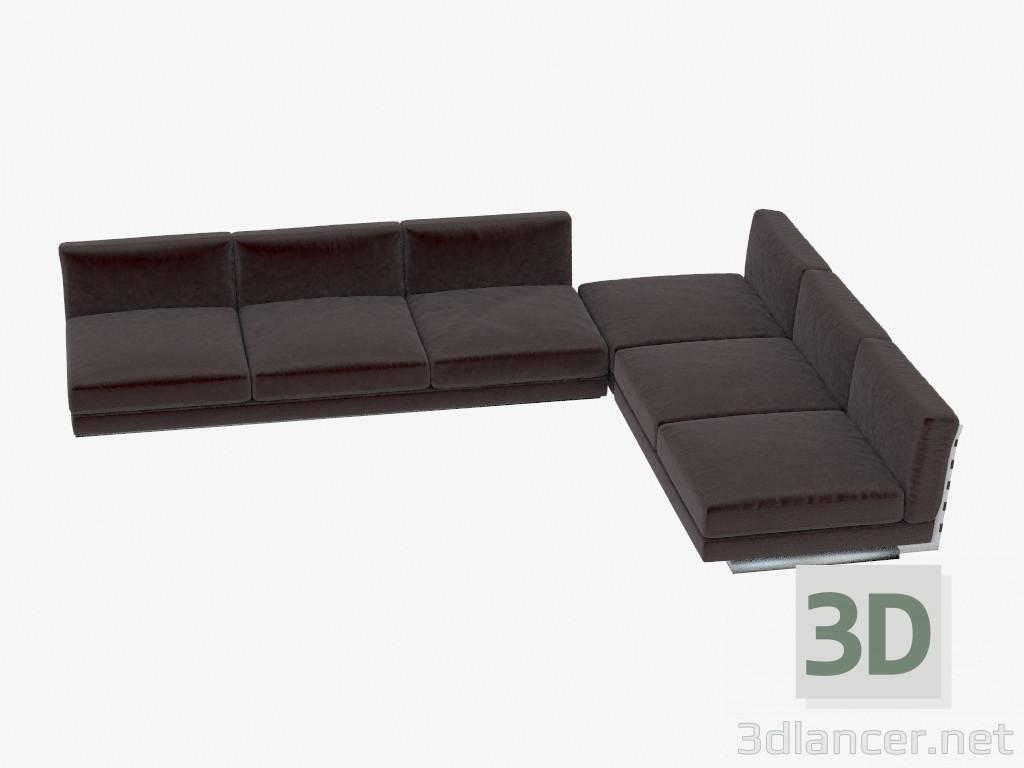 3d modella divano componibile ad angolo elem dal produttore flexform
