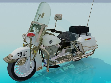 Modelo 3d Motocicleta de polícia - preview