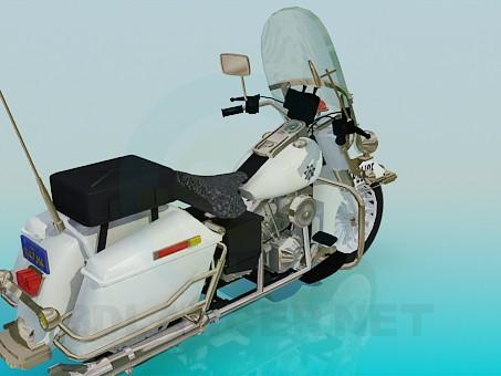 3d модель Полицейский мотоцикл – превью