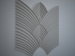 Alas de Phoenix, panel de pared 3d