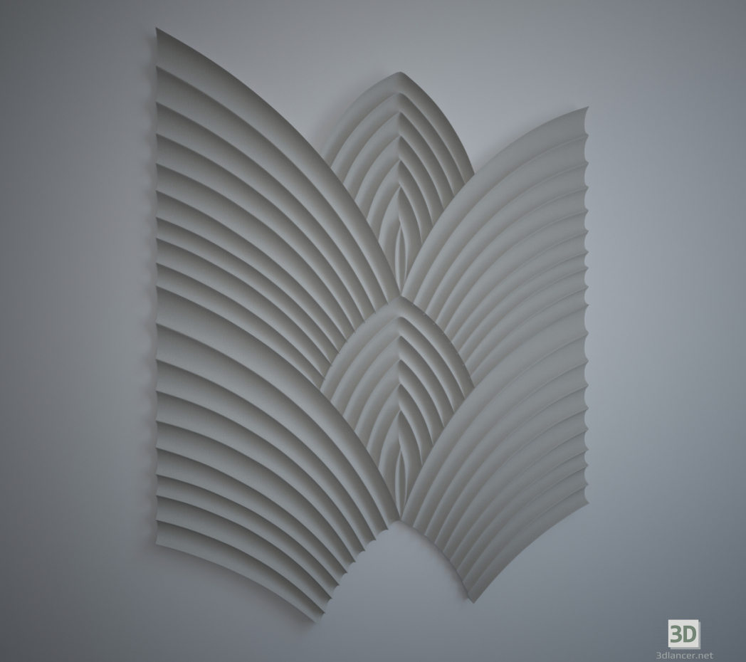 3d model Wings of Phoenix, wall 3d panel - preview