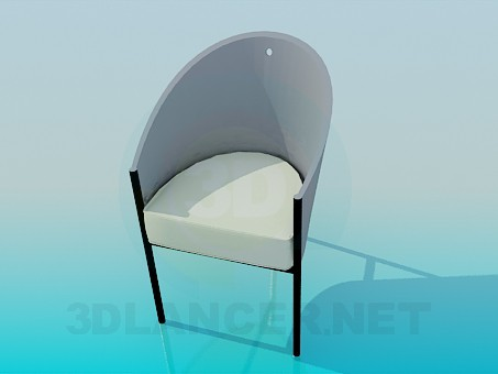 3d модель Трехножний стільчик – превью