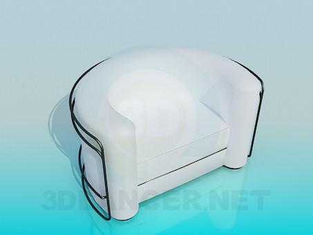 3d модель Напівкругле крісло з каркасом – превью