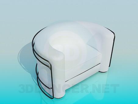 3d модель Полукруглое кресло с каркасом – превью
