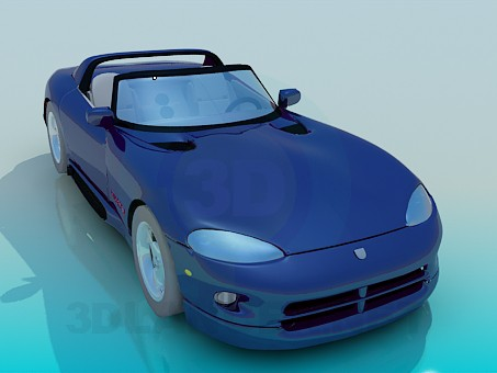 3d modeling Dodge Viper model free download