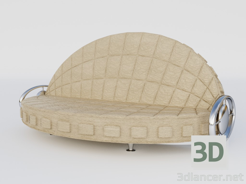 """3d model Sofa """"Shell"""" - preview"""
