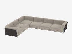 divano ad angolo modulare Fianco