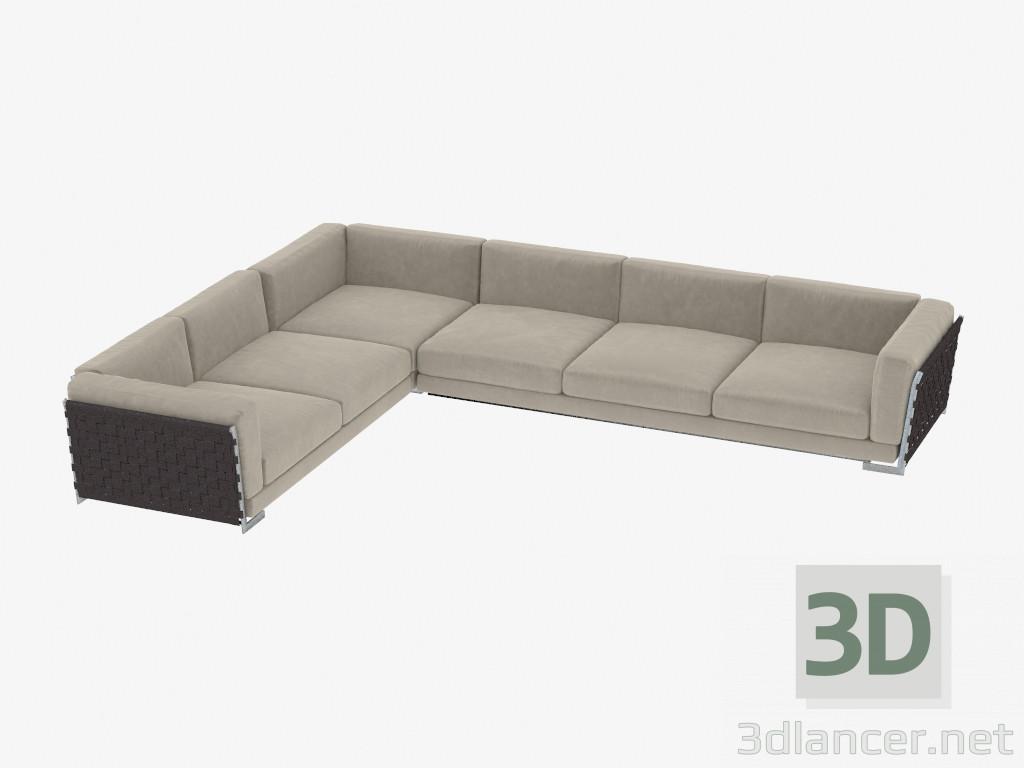 Divano Modulare Moderno Flexform.Download Gratuito Di Modello 3d Divano Ad Angolo Modulare Fianco