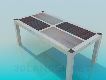 3d model Coffee table made of wood - preview