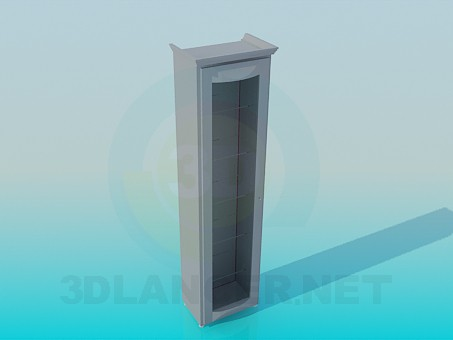 3d modeling Narrow cabinet with glass doors model free download