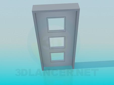 3d modeling Door with squares model free download