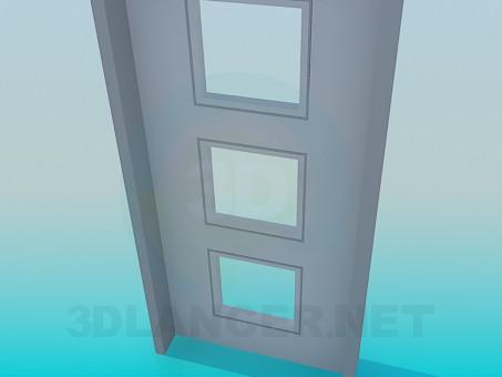 3d модель Двері з квадратами – превью