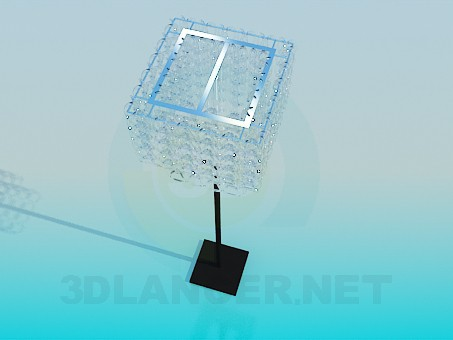 3d model Floor lamp with glass spirals - preview