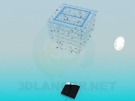 3d модель Торшер со стеклянными спиралями – превью
