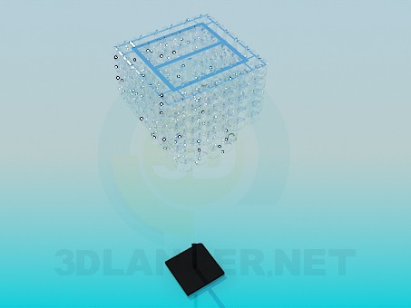 modelo 3D Lámpara de pie con espirales de vidrio - escuchar