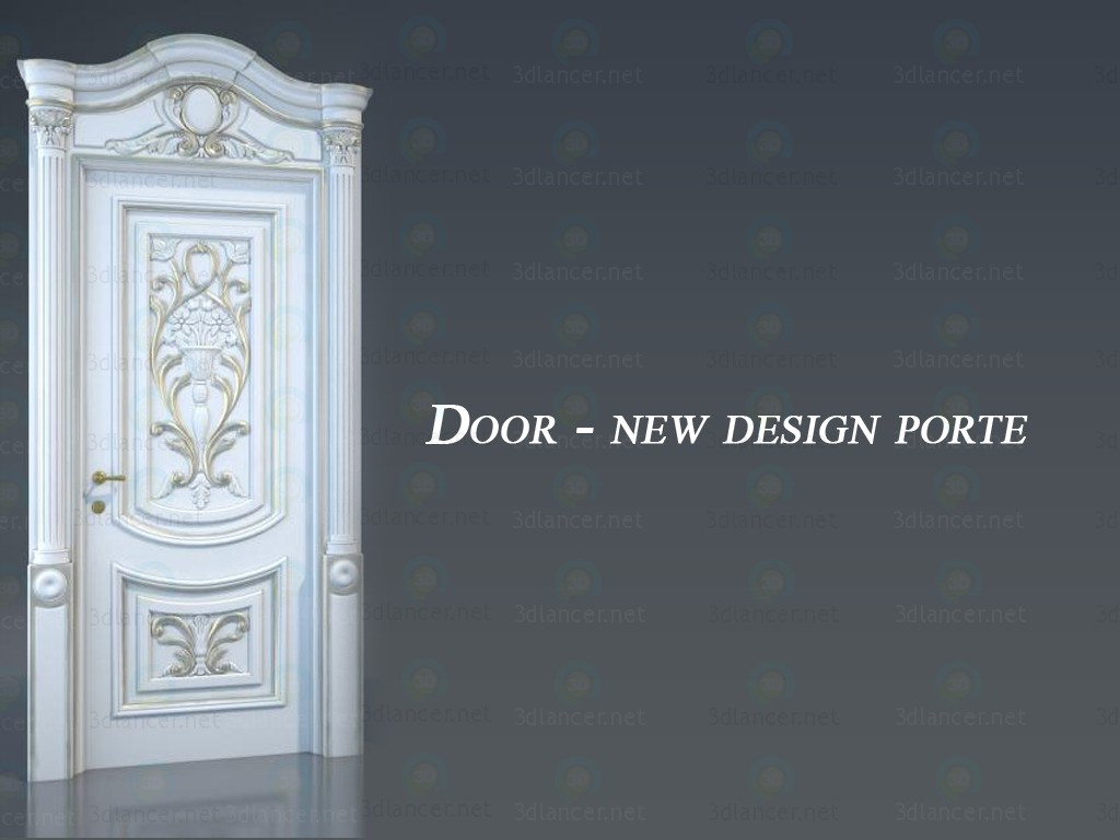 3d model Door - new design porte - preview