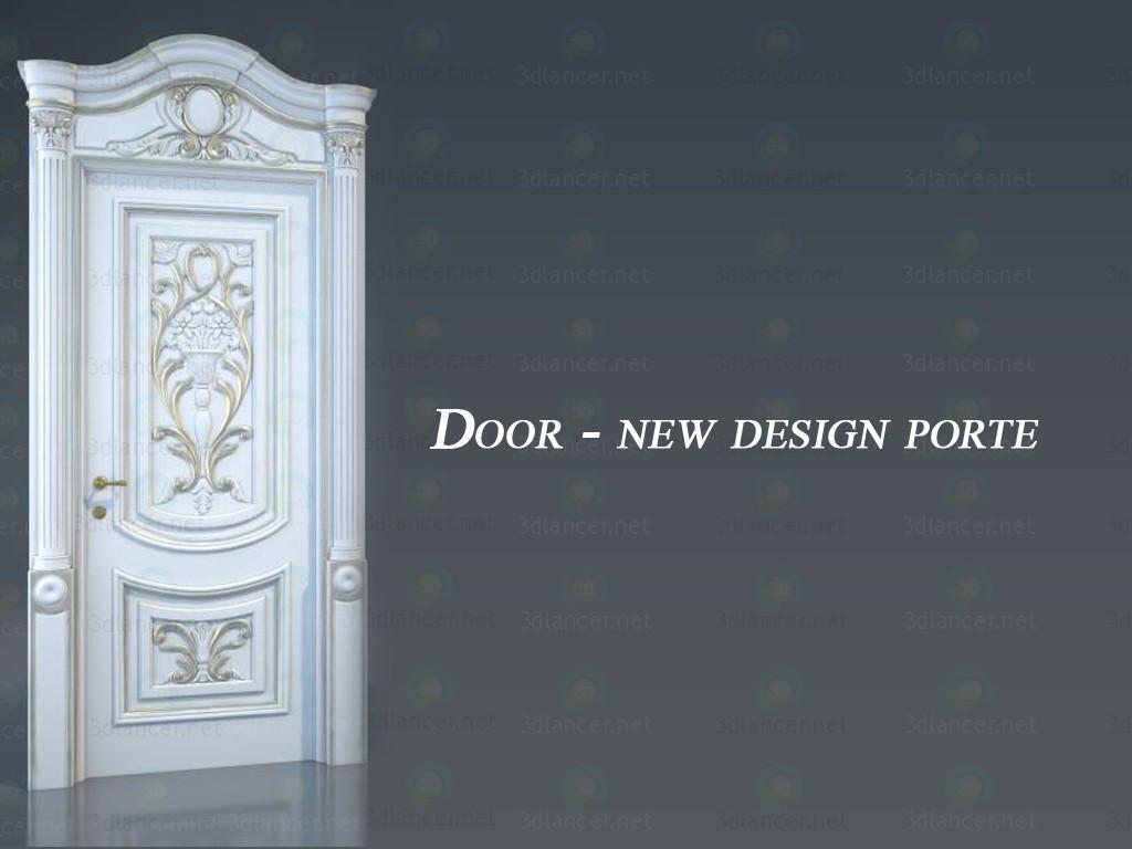 3d model door new design porte in the style of baroque for Door new dizain