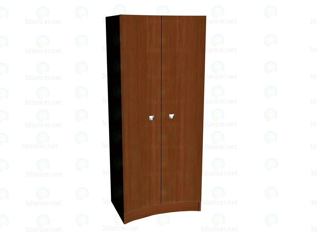 modelo 3D Armario cóncava de armario 2 puerta - escuchar