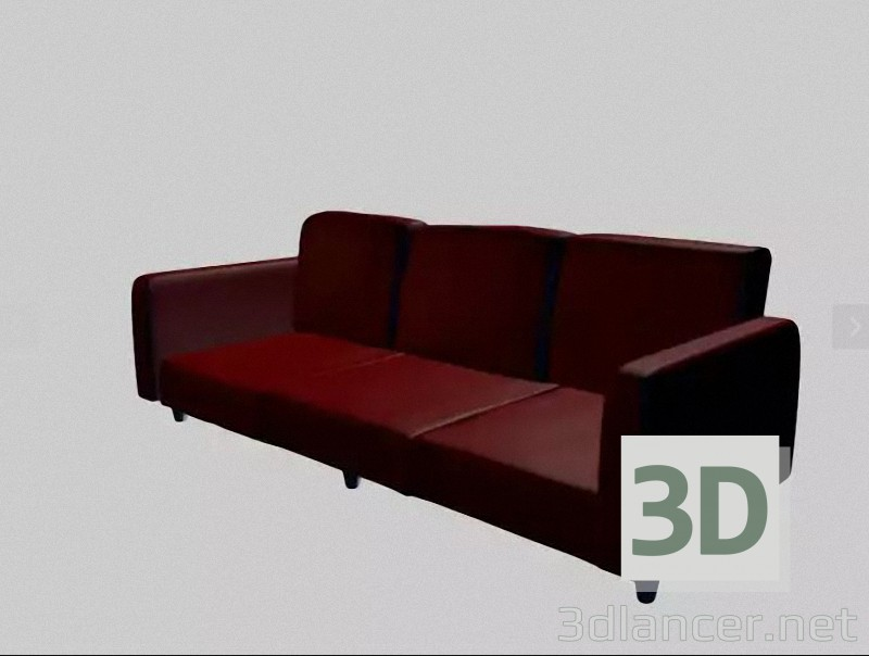 3d model simple sofa - preview
