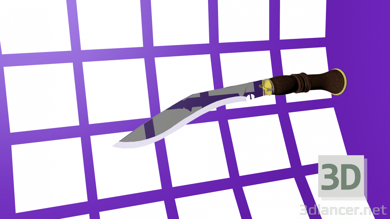 3d kukri model buy - render
