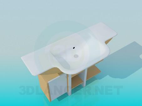 3d моделювання Прямокутний умивальник модель завантажити безкоштовно