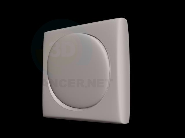 3d model Round light switcher - preview