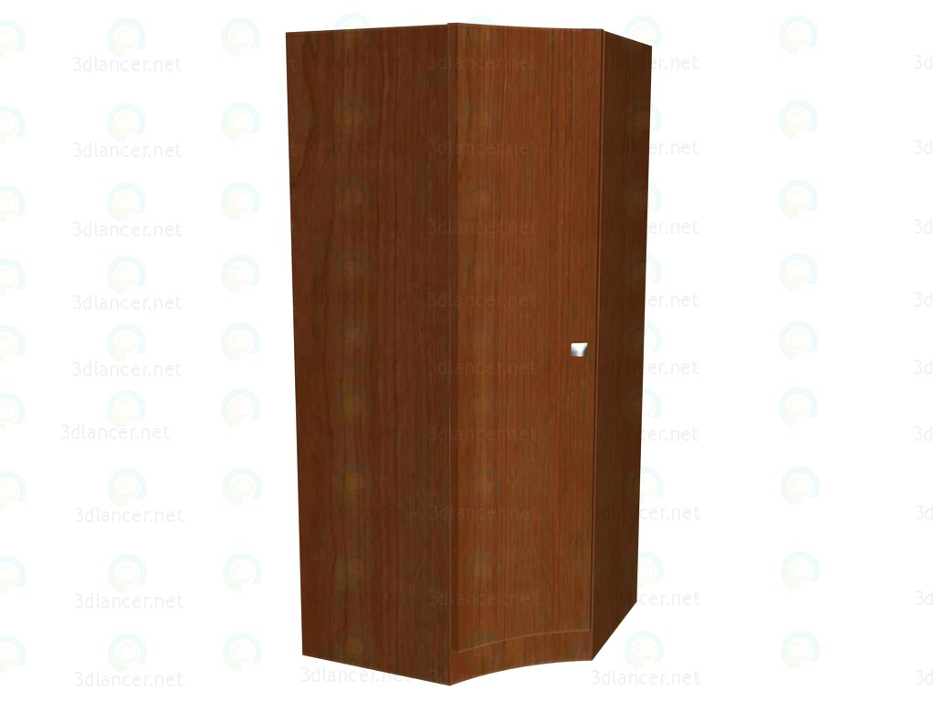 3d model Corner wardrobe - preview