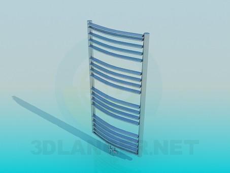 3d модель полотенцесушитель – превью