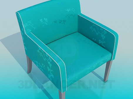 3d modeling Fabric upholstered chair model free download