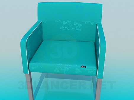3d model Fabric upholstered chair - preview