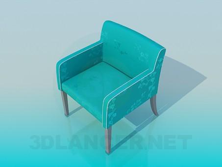 modelo 3D Silla tapizada de tela - escuchar
