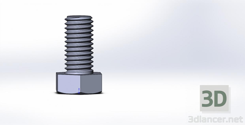 3d Bolt М8х1,25L16 model buy - render
