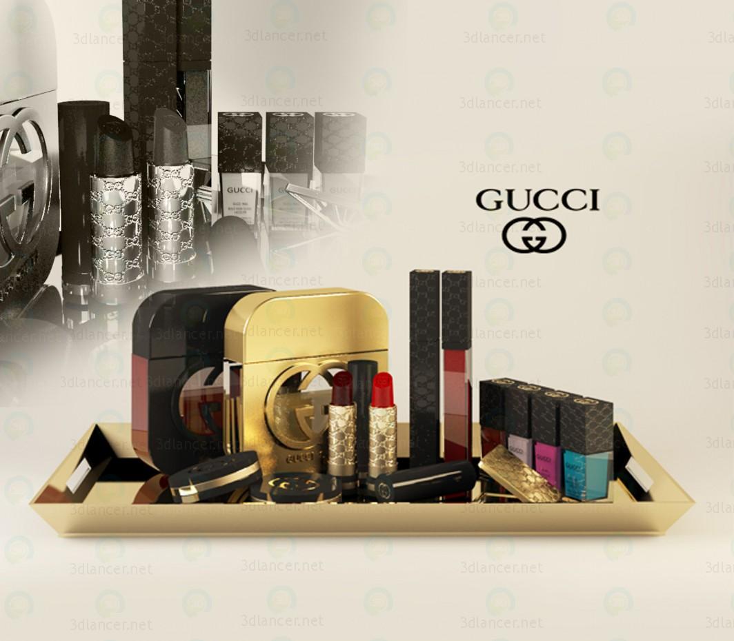 3d моделирование GUCCI макияж модель скачать бесплатно