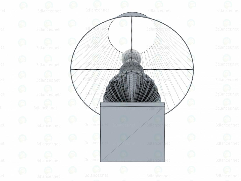 Lámpara de mesa 3D modelo Compro - render