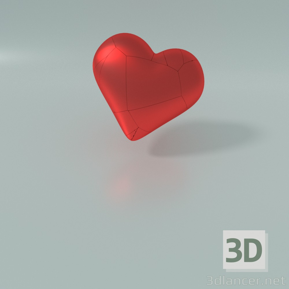 3d modeling Heart model free download