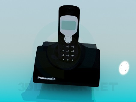 3d modeling Panasonic cordless phone model free download