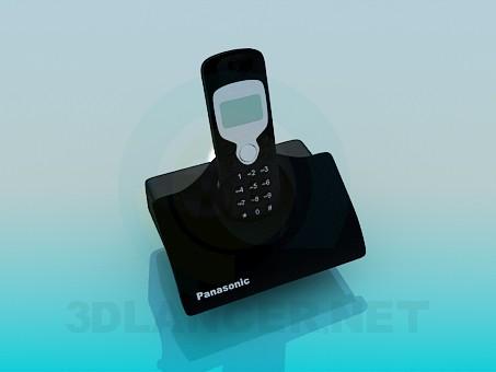 modelo 3D Teléfono inalámbrico Panasonic - escuchar