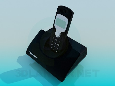 3d model Panasonic cordless phone - preview